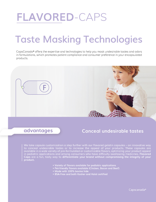 Flavored Capsules Brochure